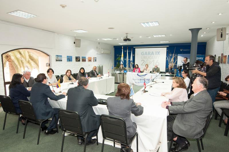 Uruguay fue sede de la IX Reunión del Grupo de Acción Regional de las Américas (GARA)
