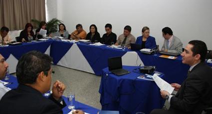 Taller con funcionarios de la Procuraduría para la Defensa de los Derechos Humanos de la República de El Salvador