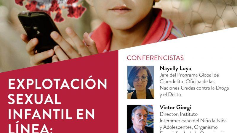 Director General participa en Webinar sobre Explotación sexual Infantil en Línea realizado por ICMEC