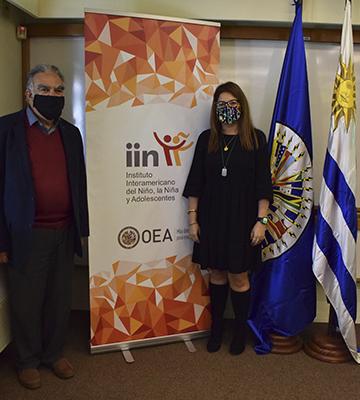 Equipo técnico del IIN recibe a la representante de OEA en Uruguay