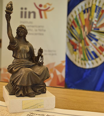 The Inter-American Children's Institute receives the 'Juvenile Justice Without Borders' International Award