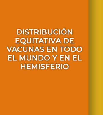 El IIN-OEA hace un llamado a realizar los máximos esfuerzos para lograr una distribución equitativa de vacunas en todo el mundo y en el hemisferio