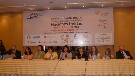 Encuentro Sudamericano de seguimiento al estudio de las naciones Unidas sobre Violencia contra niños, niñas y adolescentes